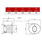 Replacement filtering vr OTA 188 WPr BMC