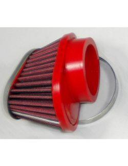 Filtre conique carburateur moto BMC chrome diam 50mm