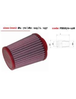 Filtre conique BMC Top polyur. diam 70mm coudé à 12 degrés