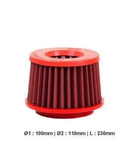 Filtre conique universel BMC Twin Air Top métal. diam 100 mm