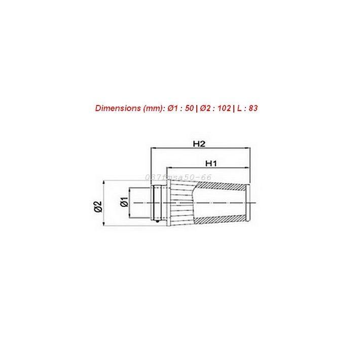 Filtre air conique droit moto BMC Single Air Diam 50mm